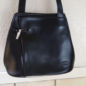 Gorgeous Longchamp Roseau meatal Toggle Bag EUC